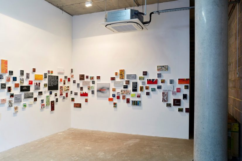 Installation view of 'Betty Tompkins: Talking Talking Talking' at FREEHOUSE, London. Photographer: Olivia Thompson