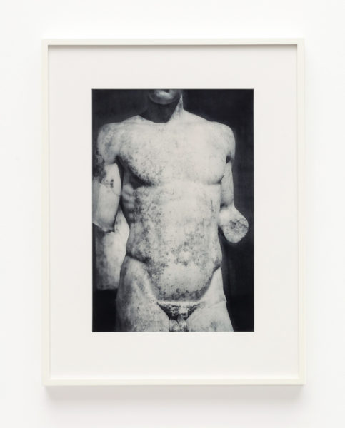 James Welling, Athlete's torso, 2019. © James Welling, courtesy Maureen Paley, London