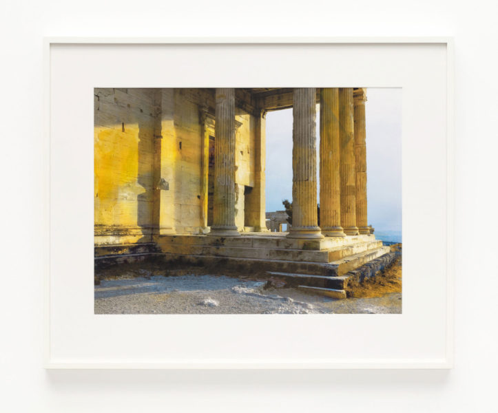 James Welling, Erechtheion. North porch. Sunset, 2019. © James Welling, courtesy Maureen Paley, London