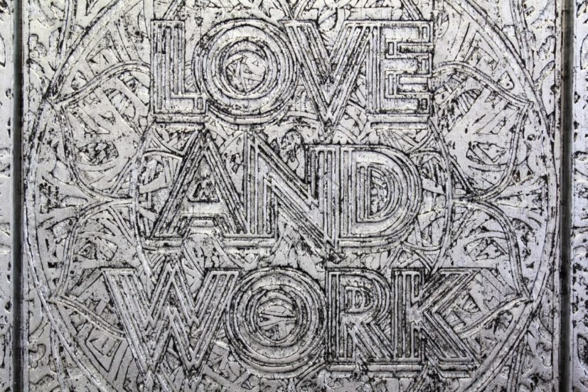 Mark Titchner, 'Love and Work' (detail), 2012. Courtesy the artist