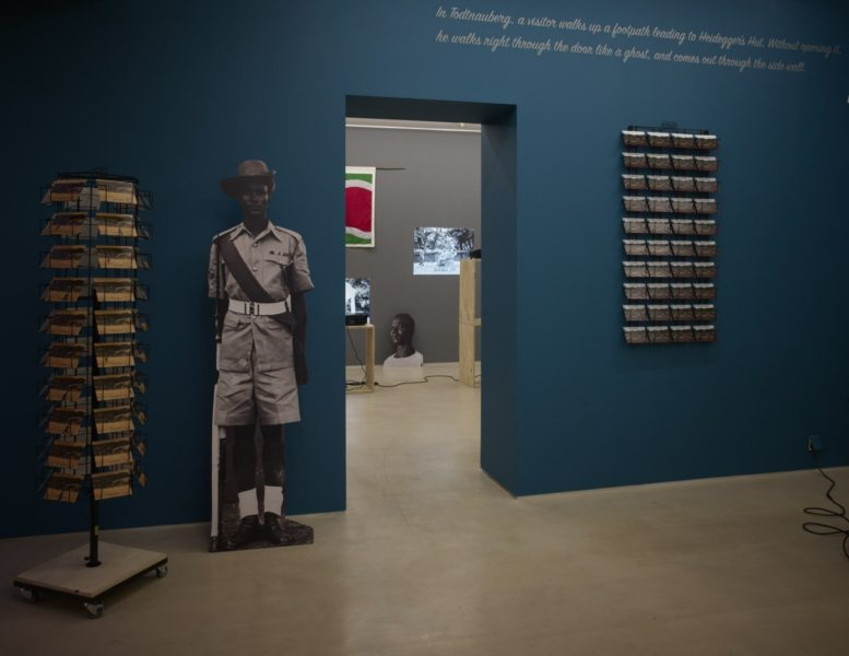 Installation view of 'Samson Kambalu: Postcards from the Last Century' at PEER, London. Photographer: Jackson White