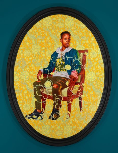 Kehinde Wiley, 'Portrait of Melissa Thompson', 2020. © Kehinde Wiley. Courtesy the artist and Stephen Friedman Gallery, London.
