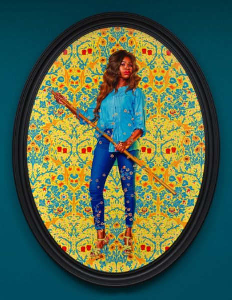 Kehinde Wiley, 'Portrait of Dorinda Essah', 2020. © Kehinde Wiley. Courtesy the artist and Stephen Friedman Gallery, London.
