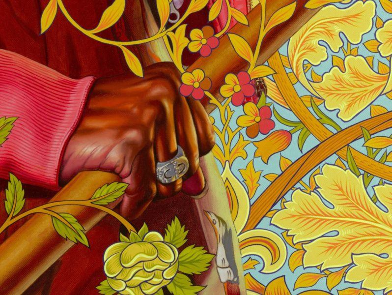Kehinde Wiley, 'Portrait of Mojisola Elufowoju' (detail), 2020.  © Kehinde Wiley. Courtesy the artist and Stephen Friedman Gallery, London.