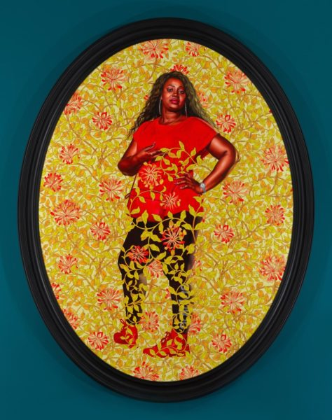 Kehinde Wiley, 'Portrait of Quanna Noble', 2020. © Kehinde Wiley. Courtesy the artist and Stephen Friedman Gallery, London.