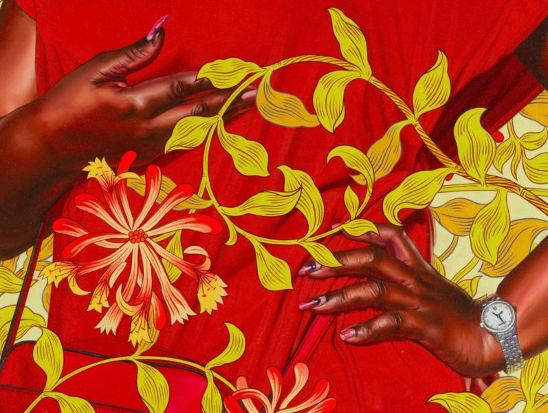 Kehinde Wiley, 'Portrait of Quanna Noble' (detail), 2020. © Kehinde Wiley. Courtesy the artist and Stephen Friedman Gallery, London.