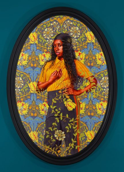 Kehinde Wiley, 'Portrait of Savannah Essah', 2020. © Kehinde Wiley. Courtesy the artist and Stephen Friedman Gallery, London.