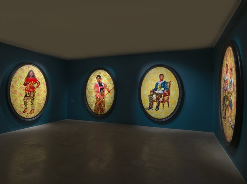 Kehinde Wiley:The Yellow Wallpaper (installation view), at William Morris Gallery, London (2020). © Kehinde Wiley. Courtesy the artist; Stephen Friedman Gallery, London and William Morris Gallery, London. Photographer: Todd-White Art Photography, London.