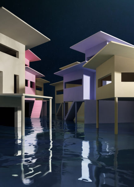 James Casebere, Flooded Streets, 2019. Copyright of the artist, Courtesy Templon, Paris & Brussels