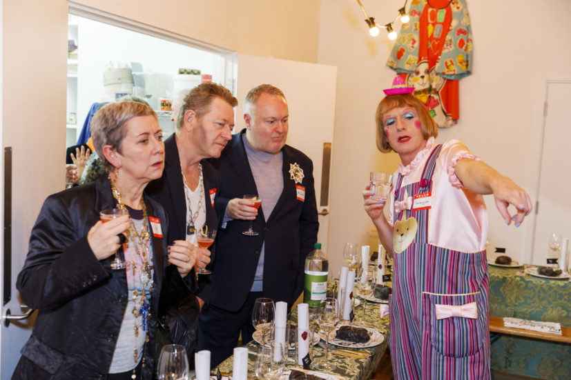 Contemporary Art Society dinner, Grayson Perry's studio, London, England, 2020. © Martin Parr / Magnum Photos. Image 5