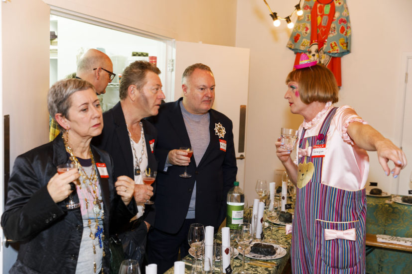 Contemporary Art Society dinner, Grayson Perry's studio, London, England, 2020. © Martin Parr / Magnum Photos. Image 6