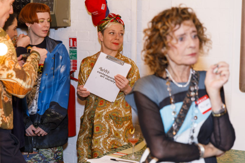Contemporary Art Society dinner, Grayson Perry's studio, London, England, 2020. © Martin Parr / Magnum Photos. Image 19