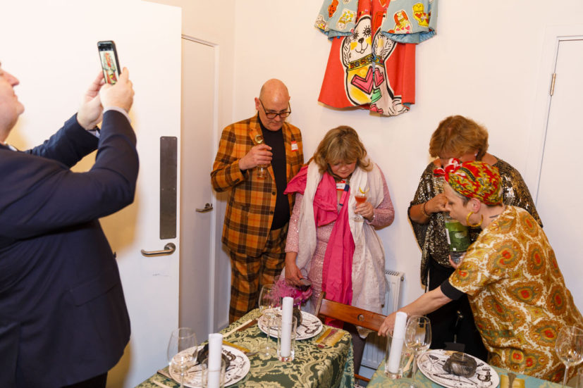 Contemporary Art Society dinner, Grayson Perry's studio, London, England, 2020. © Martin Parr / Magnum Photos. Image 23