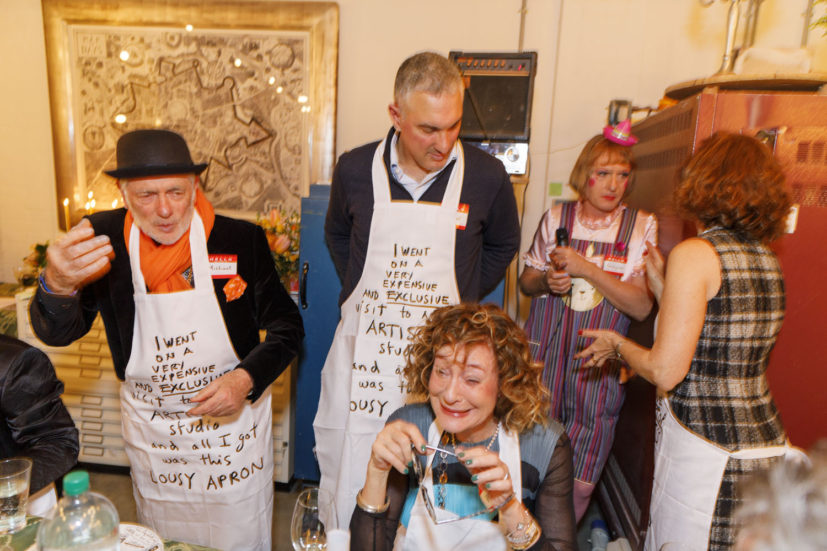 Contemporary Art Society dinner, Grayson Perry's studio, London, England, 2020. © Martin Parr / Magnum Photos. Image 27