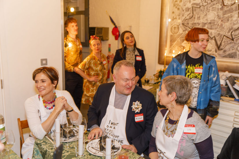 Contemporary Art Society dinner, Grayson Perry's studio, London, England, 2020. © Martin Parr / Magnum Photos. Image 29