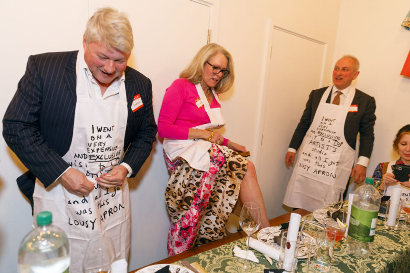 Contemporary Art Society dinner, Grayson Perry's studio, London, England, 2020. © Martin Parr / Magnum Photos. Image 30