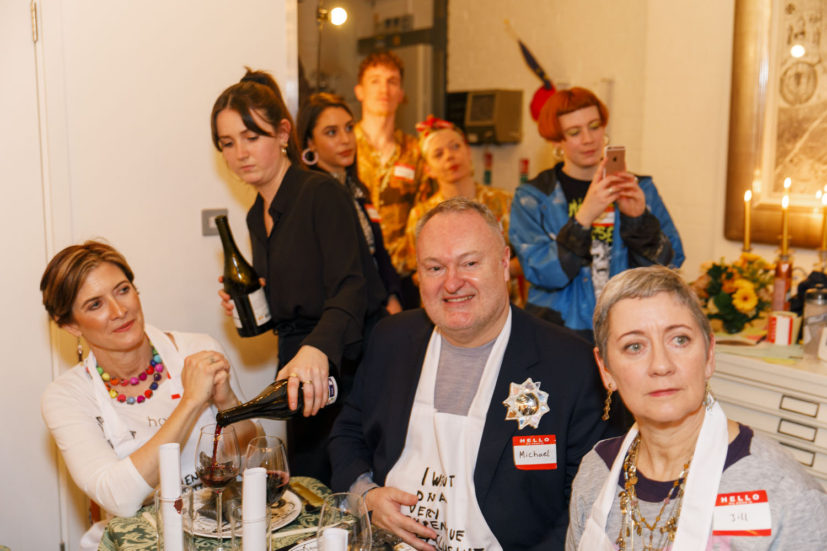 Contemporary Art Society dinner, Grayson Perry's studio, London, England, 2020. © Martin Parr / Magnum Photos. Image 31