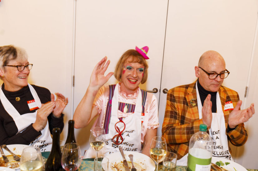 Contemporary Art Society dinner, Grayson Perry's studio, London, England, 2020. © Martin Parr / Magnum Photos. Image 41