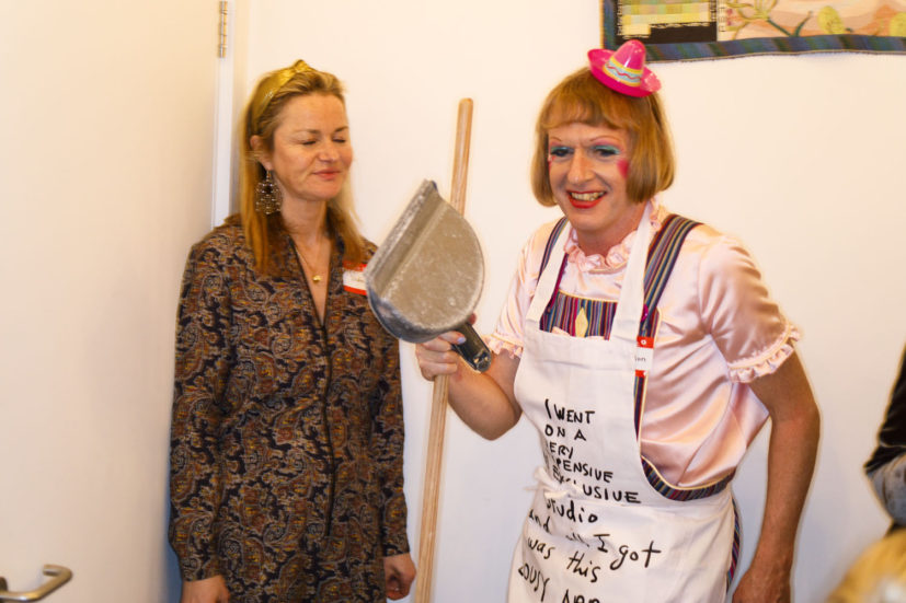 Contemporary Art Society dinner, Grayson Perry's studio, London, England, 2020. © Martin Parr / Magnum Photos. Image 51