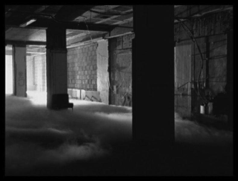 Still from Graham Gussin, 'Spill', 1999. 12 min loop. 16mm B/W. Silent. Courtesy of the artist