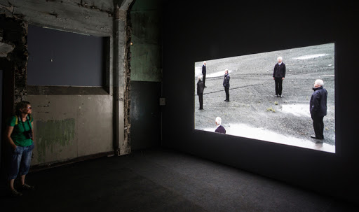 Installation view of Mikhail Karikis & Uriel Orlow, 'Sounds From Beneath', 2011-2012. Courtesy the artists.