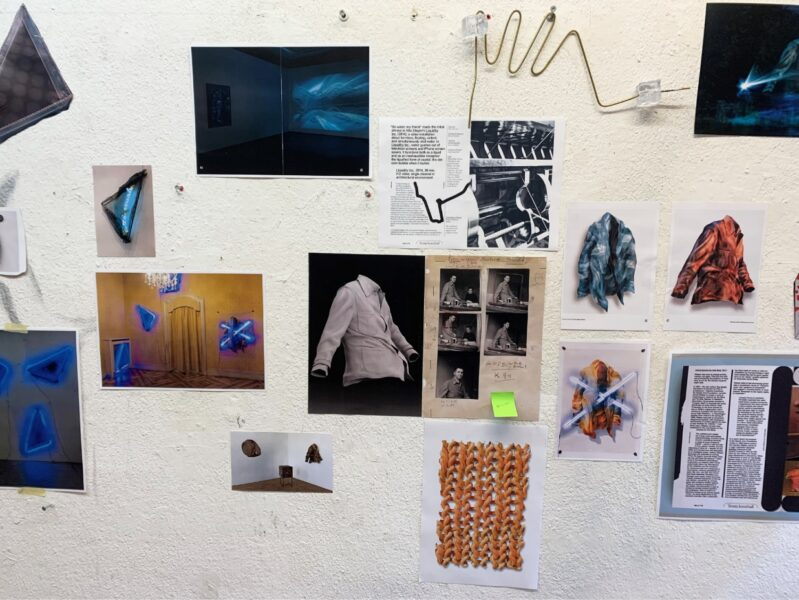Florian Auer's studio, Berlin, 2020. Mood-board for the publication. Courtesy the artist.