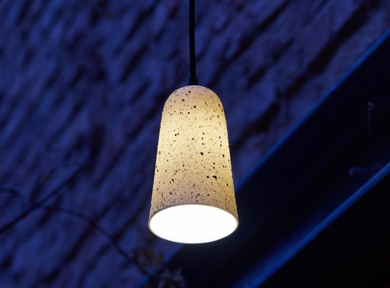Speckled porcelain pendant. Image courtesy of the Granby Workshop