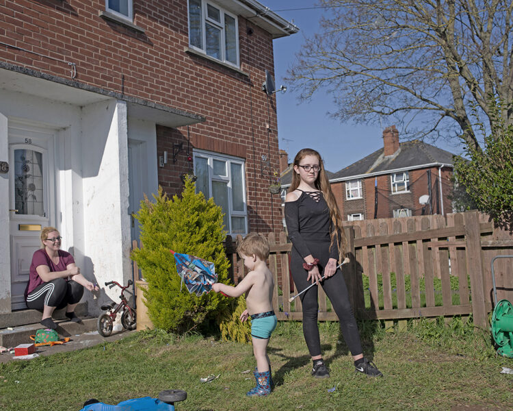Michelle Sank, 'Lacey and Family, Burnthouse Lane, Exeter', from the series 'Breathe', 2020