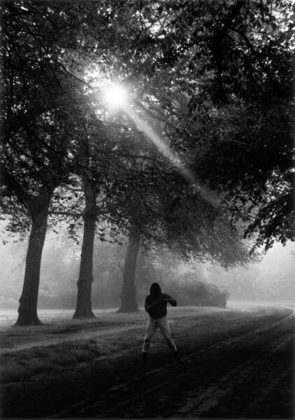 Gordon Parks, Muhammad Ali Trains in Hyde Park, London, England, 1966. Courtesy of The Gordon Parks Foundation, New York and Alison Jacques Gallery, London. © The Gordon Parks Foundation