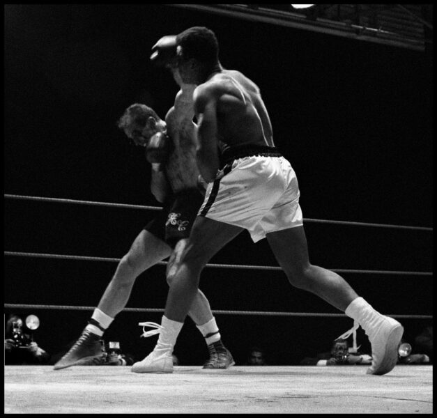 Gordon Parks, Muhammad Ali Fights Henry Cooper in Highbury, London, 1966. Courtesy of The Gordon Parks Foundation, New York and Alison Jacques Gallery, London. © The Gordon Parks Foundation