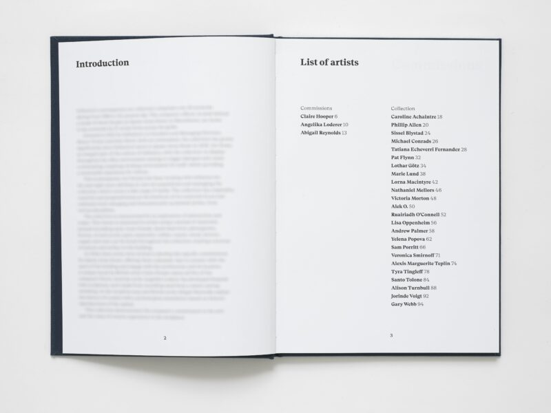 Art Collection Catalogue. Photography: Andy Keate