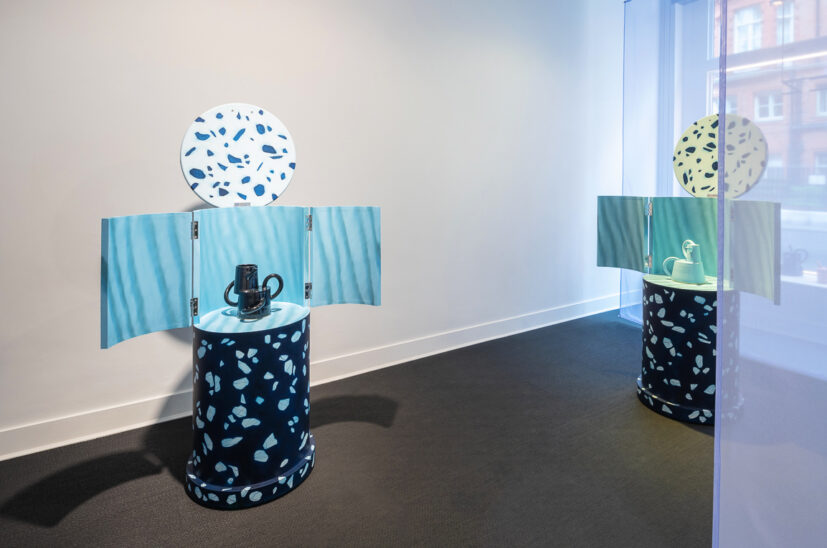 Installation view of Coco Crampton: Domestic Wears at Belmacz. Images courtesy of Belmacz.