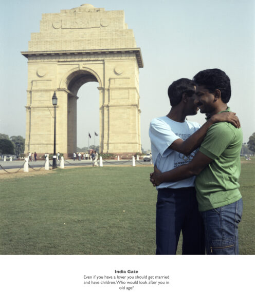 Sunil Gupta, India Gate, 1987, from the series Exiles. Courtesy the artist and Hales Gallery, Stephen Bulger Gallery and Vadehra Art Gallery © Sunil Gupta. All Rights Reserved, DACS 2020