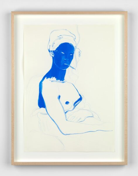 Lisa Brice, Untitled 1, 2019. Gouache on paper, 41.9 x 29.6. Image courtesy the artist.