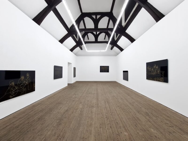 Hetain Patel, Baa's Gold, 2021, installation view at Copperfield, London. Photo: Eva Herzog. Courtesy the artist & Copperfield, London
