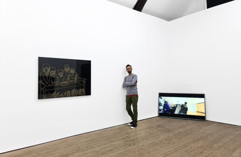 Hetain Patel at his exhibition 'Baa's Gold' at Copperfield, London. Photo: Eva Herzog. Courtesy the artist & Copperfield, London