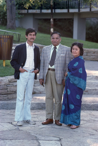 Sunil Gupta, Sunil and his Parents (Ram & Penny), c. 1974/2018. Pigment print on archival paper, print: 35.6 x 53.3 cm. Courtesy of the artist and Hales Gallery.