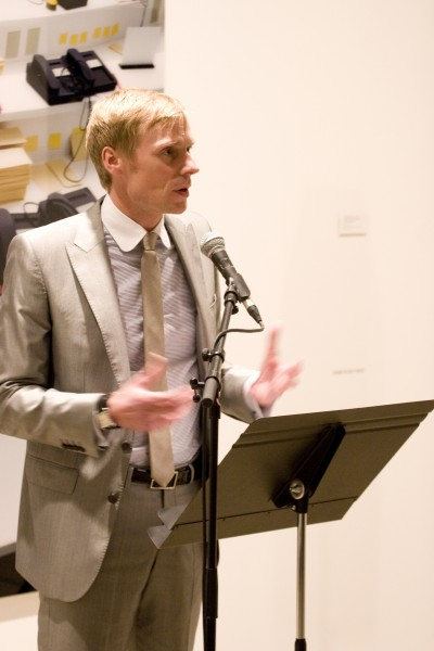 Paul Hobson, CAS Director speaking at the Contemporary Art Society Annual Award for Museums launch