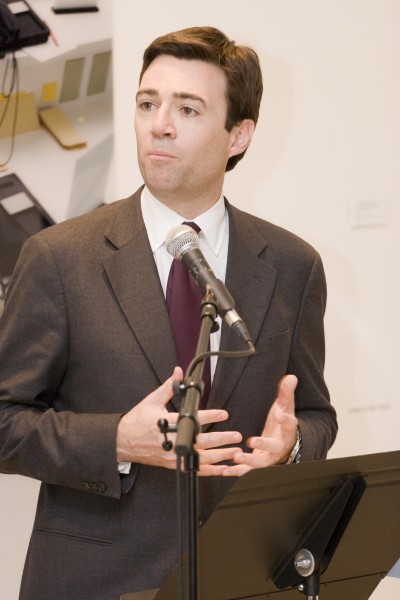 Rt. Hon Andy Burnham MP, Secretary of State for Culture, speaking at the Contemporary Art Society Annual Award for Museums launch