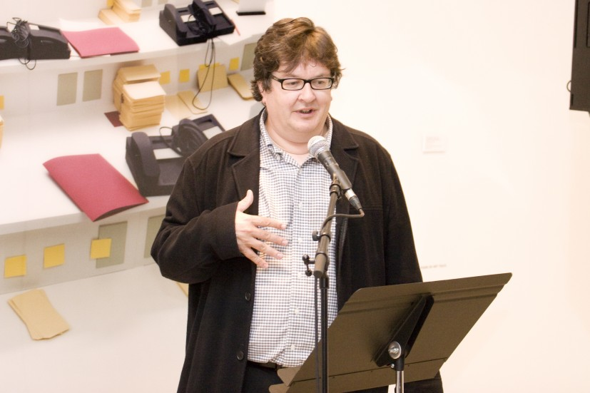 Mark Wallinger speaking at the Contemporary Art Society Annual Award for Museums launch