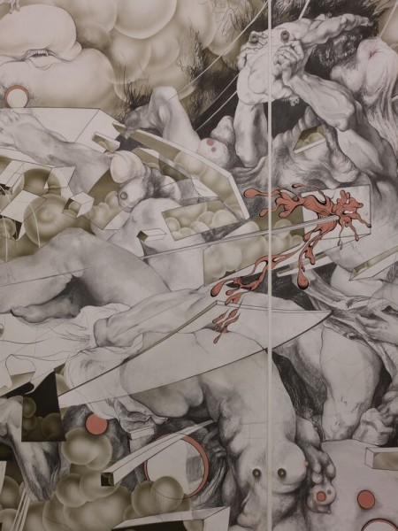 Sabine Descent (Wall Drawing), installation view detail 10