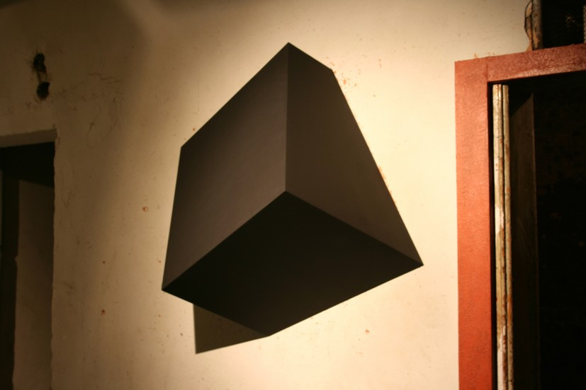 Black Cube Interrupting a Wall