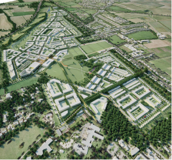 illustrative masterplan view, AECOM