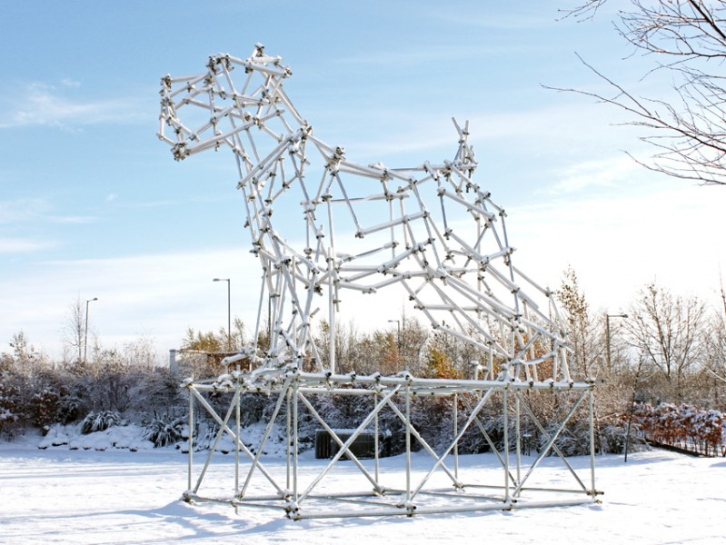 Dog Scaffolding Sculpture II