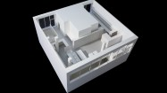 Architectural model for Contemporary Art Societys new home in Central Street, London, designed by Carmody Groarke, 2012