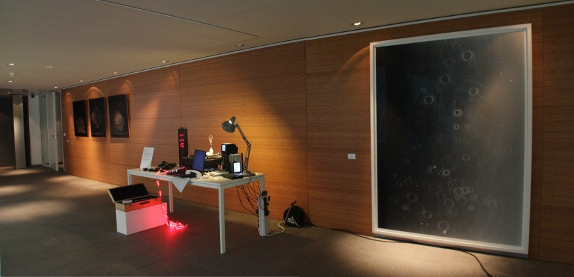 installation view of Perceptions - Outer Worlds at Deloitte, Luxembourg, November 2010
