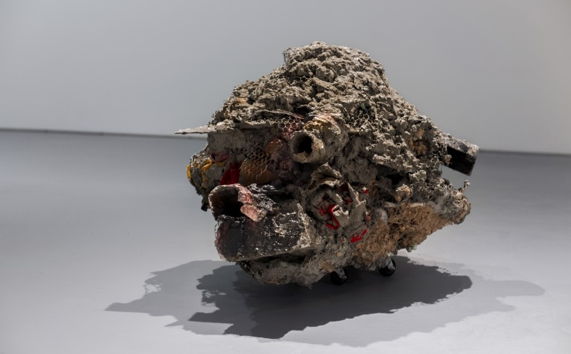 Untitled: Disaster III, 2010. DISPLAYS Work by Phyllida Barlow recently gifted by the Contemporary Art Society will be on display at 59 Central Street along with selected work from Nottingham Castle Museum's collection (photo: Joe Plommer)